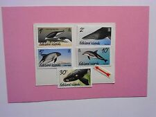 FALKLAND ISLANDS: 2012  Whales & Dolphins 5vals with imprint MNH  Sg1231a/1235a