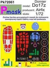 Máscara de pintura Dornier Do17z para Airfix Kit #72061 1/72 pmask