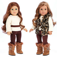 Wild Cat - Doll Clothes for 18 inch American Girl Winter Vest Pants Blouse Boots