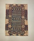 Vintage Turkish Kilim 207x147 cm Tribal Kelim Rug, Blue, Red, Beige, Medium
