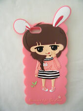 Iphone 6 Cover Case soft Silicone Gel Pink Cute girl Rabbit ears Australia stock