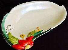 "Fantástico Raro Antiguo (1930s) art Deco Crown Devon 11""/28cm de largo Plato De Porcelana"