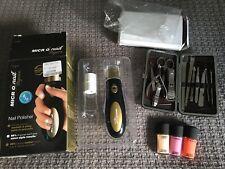 Bundle x3 MAC nail varnish 12pcs manicure tool set kit emjoi micronail elegance