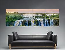 Cascade Chute D'eau Panorama Paysage Nature  Poster Grand format 168cm X 59,4CM
