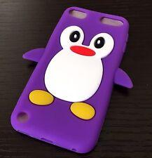 iPod Touch 5th 6th Gen - Soft Silicone Rubber Case Cover Cute Penguin Accessory