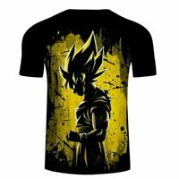 Dragon Ball Z Son Goku Men T-Shirt Ultra Instinct Super Saiyan Vegeta Asian Size