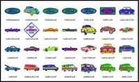 28 Car File Embroidery Digitized Designs to run Machines