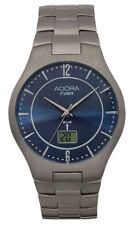 ADORA reloj controlado por radio de hombre Ø 40mm TITANIO Analógico Digital,