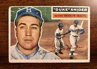 1956 Topps Duke Snider Brooklyn Dodgers #150 Baseball Card HOF