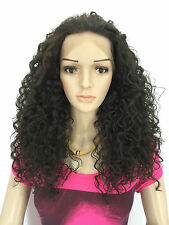 JENNIFER HAIR LACE FRONT FULL WIGS CURLY WIGS COLOUR (2)DARK BROWN
