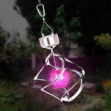 Solar Powered LED Wind Chime Wind Spinner Windchime Outdoor Garden Courtyard GA