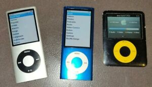 MIX LOT OF APPLE IPOD`S TWO 8GB ONE 4GB THEY ALL WORK BEEN TESTED !!!!