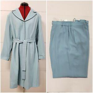 NWT The Look Randolph Duke Blue Dress Jacket With Pants 2 Piece Set Size 20W