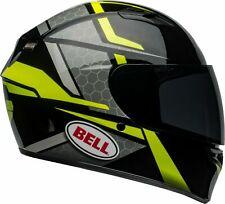BELL CASCO INTEGRALE MOTO HELMET QUALIFIER FLARE GLOSS BLACK HI-VIZ TG. M 58 CM