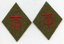 Original Organisation Todt OT Paar Kragenspiegel für Arbeiter 3. Reich