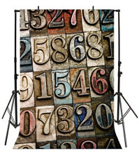 Retro Vintage Numbers Show Scene Backdrop 6.5x10ft Background Studio Photo Props