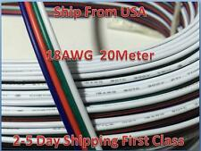 20M RGB 4-Pin 18AWG Extension Wire Connector Cable For 3528 5050 RGB LED Strip