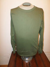 MILITARY STYLE OD GREEN LONG SLEEVE SHIRT SIZE LARGE MADE IN THE U.S.A