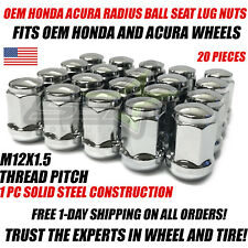 20x Honda Acura OEM Radius Ball Seat Lug Nuts Chrome 12x1.5 Closed End 3/4 Hex