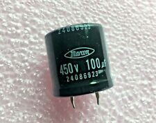 100uF 450V Aluminum Electrolytic Snap In Capacitor High Temp  Marcon  5 pieces