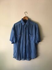 Vintage Structure Silk Blue 90s Normcore Dad Vacation 00s