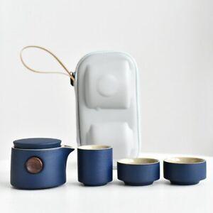 Dinkware Set Japanese-Style Ceramic Tea Set Portable Travel Gaiwan Kettle Teacup