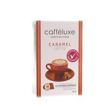 40 Caffeluxe(Nespresso Compatible Capsules) Caramel Coffee Machine Pods 4x10