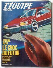 L'Equipe Magazine 4/10/1986; Automobile; Le choc du futur