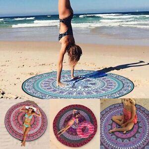Roundie Indian Mandala Beach Tapestry Hippie Round Throw Yoga Mat Blanket Towel