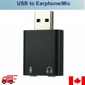 New USB External Sound Card To 3.5mm Earphone Mic Adapter headphone Jack Stereo