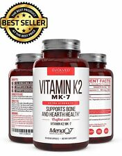 Premium Extra Strength Vitamin K2 MK-7 w/D3 MenaQ7 For Bone & Hearth Health