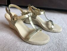 Clothing, Shoes & Accessories Sandals Chadwicks Brand Cork Wedge Midnight Blue Sandals In Sz 6m