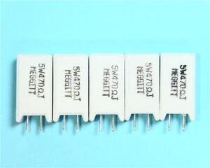 5 x Radial Ceramic 5W Power Resistor, 0.22 to 47K Ohm, You Chose Value ±5% NEW
