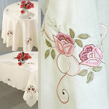 Embroidered Square Tablecloths