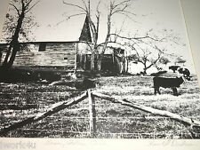 Vintage Black & White Photograph By Harold Dodson:  BARN, CADES COVE Tennessee