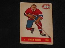 DICKIE MOORE 1957-58 PARKHURST HOCKEY CARD #14 MONTREAL CANADIENS