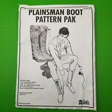 Tandy Leather Plainsman Boot Pattern Pack 62690-00 - Shoe Making Designs