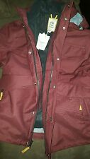 New w/ Tags Timberland Hooded Jacket Coat Mens XL Burgundy Zip with Buttons NWT