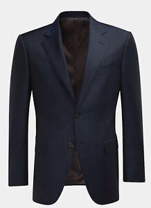 SUITSUPPLY Napoli Navy Blue Wool Blazer Sport Coat Jacket 38 R