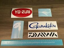 Fishing stickers, 5 vinyl decal stickers die cut lures rods fishing Gamakatsu