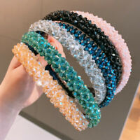 Multicolor Women Rhinestone Hairband Crystal Headbands Wedding Xmas Hair Hoop