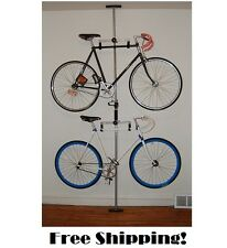 Bike Hanger Stand Rack Double Holder Ceiling Floor Mount Storage Garage Bicycle