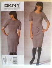 Vogue V1193 DKNY Konna Karan NY Dress Sewing Pattern, Size AA (6-8-10-12) NEW
