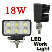 1/2x 18W Spot 6 LED Work Light Driving Boat Utility 4x4 Truck Deck Light 12/24V