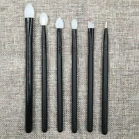 6pcs Soft Silicone Eyeshadow Eyeliner Eye Shadow Brushes Applicator Makeup Tube