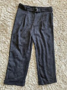 BNWT Next Wide Leg Belted Smart Trousers Size 14R