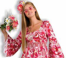60's Flower Child  Hippie Woodstock  Adult Paisley Long Dress Costume N28