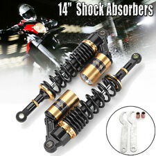 Pair Motorcycle Bike 360mm 14'' Rear Air Shock Absorbers For Yamaha Honda Suzuki