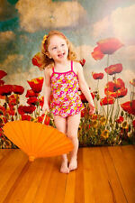 Polyester Floral One-Piece Swimwear (0-24 Months) for Girls