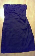 Esprit Kleid Gr.36/38 schwarz Cocktailkleid Abendkleid trägerlos Etuikleid